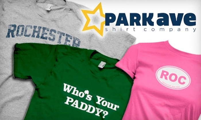 Park Ave Shirt Company: $25 for $50 Worth of T-Shirts from Park Ave Shirt Company