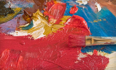 Choice of a 2-Hour Painting on Canvas or Art & Pizza Workshop for 1 Child (a $25 value) - The Painting Workshop in Baltimore