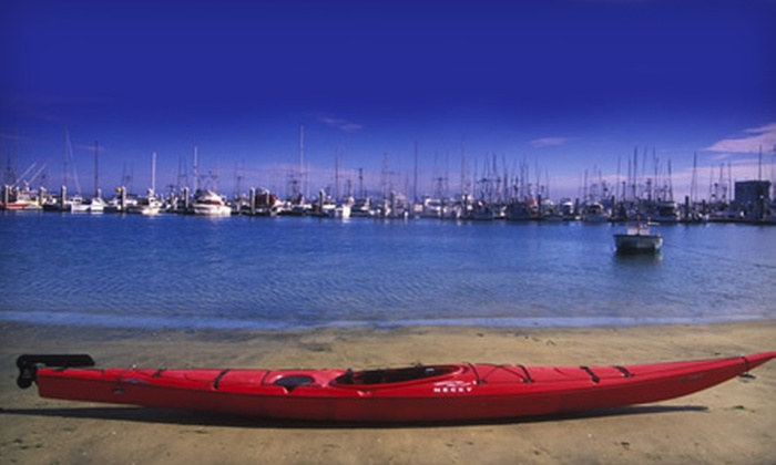 Half Moon Bay Kayak Company - South Coastside: $20 for a One-Hour Paddleboard, Kayak, or Double-Kayak Outing for Two from Half Moon Bay Kayak Company ($40 Value)