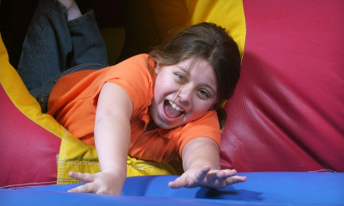 Extreme Fun's Inflatable Playland - Roseville: $25 for Five All-Day Bounce Passes at Extreme Fun's Inflatable Playland in Roseville ($50 Value)
