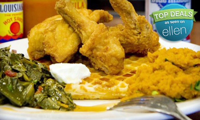 May's Counter - Blenman-Elm: $22 for Southern-Style Comfort-Fare Dinner for Two at May's Counter (Up to $45 Value)