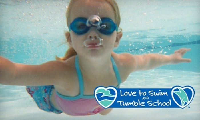 Love to Swim and Tumble School - San Antonio: $35 for One Month of Swim Lessons at Love to Swim and Tumble School (Up to $70 Value) in Schertz