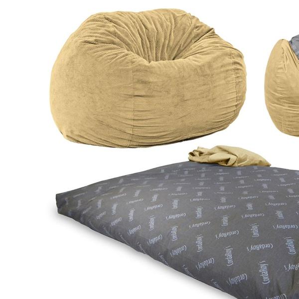 Wondrous Cordaroys Corduroy Convertible Beanbag Chair Bed Machost Co Dining Chair Design Ideas Machostcouk