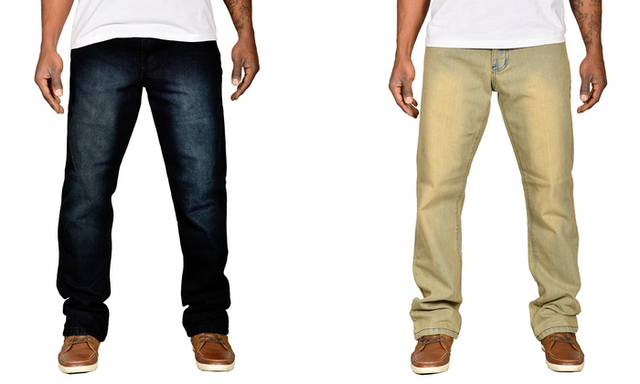 Buy 1 Get 1 Free: Unlimited Patience Men's Straight-Fit Jeans (30, 32, 34)