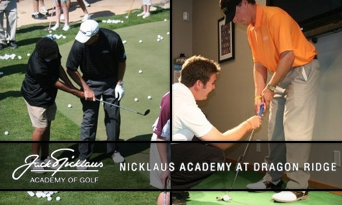 Nicklaus Academy at DragonRidge - MacDonald Highlands: $99 for a 60-Minute Private Golf Lesson at Nicklaus Academy at DragonRidge ($200 Value)