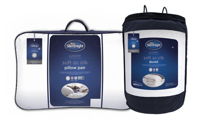 Silentnight Soft as Silk 13.5 Tog Duvet with Two Pillows from £31.99
