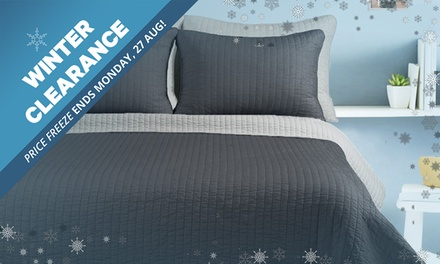WINTER CLEARANCE: FivePiece Reversible Comforter Set: Single/Double $29 or Queen/King $35