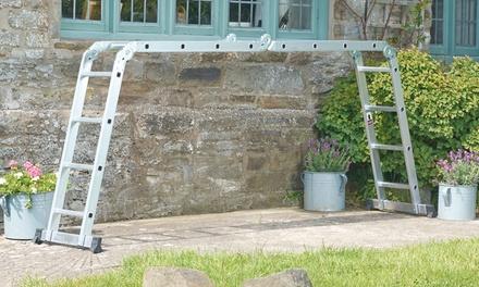 Echelle pliable multi positions en aluminium 4 x 3 m ou 4 x 4 m