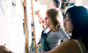 The Artist Studio: One or Four Professional Art Classes for One Person or Four Classes for Two People at The Artist Studio (Up to 60% Off)