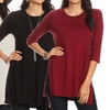 Nelly Women's 3/4-Sleeved Tunic Top