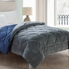 Plush and Microfiber Reversible Comforter