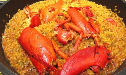 Menú con entrante, principal o arroz meloso de bogavante, postre y botella de vino desde 22,99 € en La Taberna D Angela
