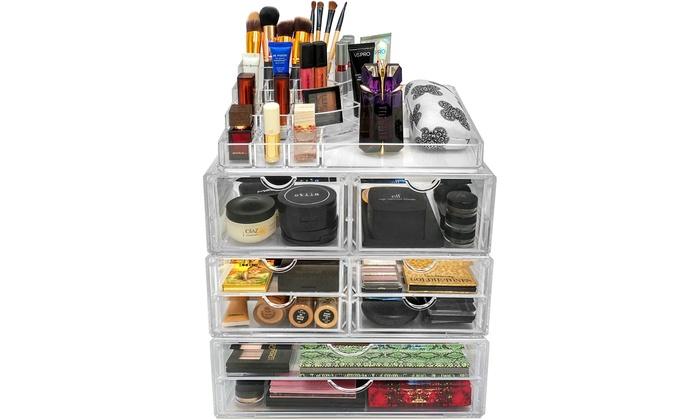 Sorbus X Large Makeup Storage Case Displays ...