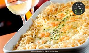Nikaia Cozinha e Bar: Nikaia Cozinha e Bar - Valparaíso:camarão internacional ou costela especial no bafo para 4 pessoas