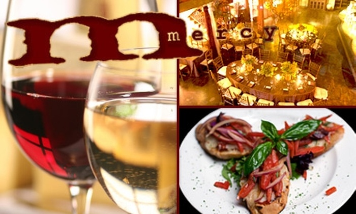 Mercy Wine Bar - Addison: $20 for $40 Worth of Classy Entrees, Cheeses, Paninis, and More from Mercy Wine Bar