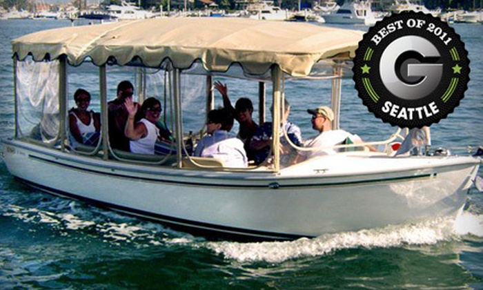 The Electric Boat Company - Lake Union: $89 for a Two-Hour Electric Boat Rental from The Electric Boat Company ($178 Value)