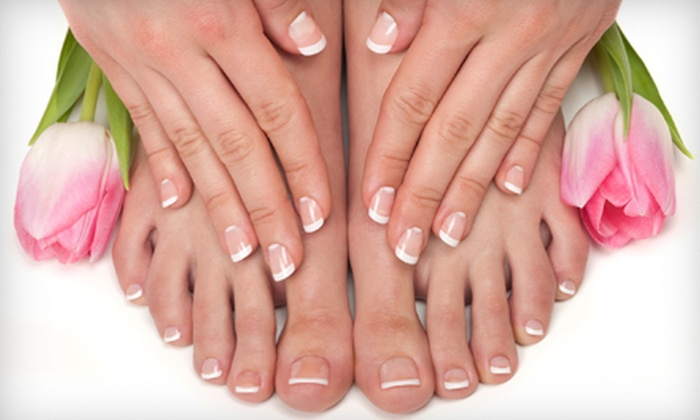 Nails Design - Kent: Lash Extensions or Mani-Pedi with Foot Massage at Nails Design in Kent