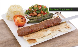 Origin Kebab - Garden City 1: Chargrilled Shish Kebab for 1 ($5), 2 ($10), or 6 People ($30) at Origin Kebab, Garden City Level 1 (Up to $59 Value)