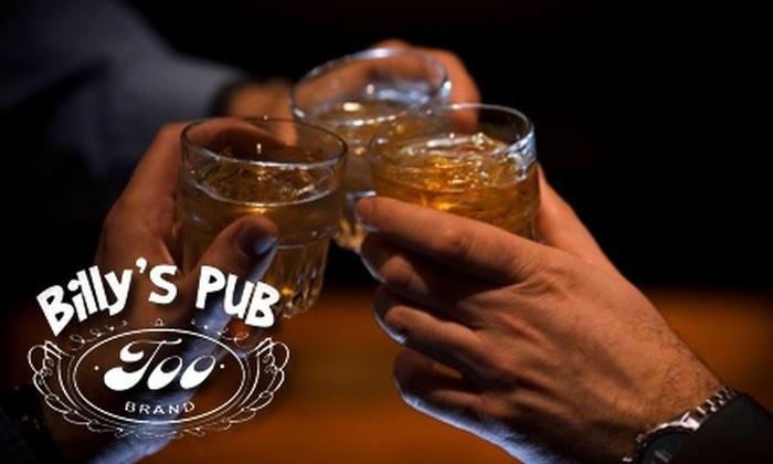 Billy's Pub Too - North Miami: $15 for a Vodka, Bourbon, or Scotch Tasting Plus a Fine Cigar at Billy's Pub Too