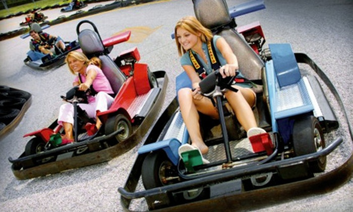 Boomers! - Upland: Recreational Package for One or Two with Go-Karts, Mini Golf, Gaming, and Meals at Boomers! in Upland