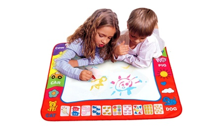 One or Two Kids' Water Magic Doodle Mats with Water Pens