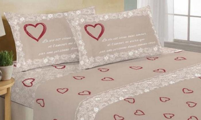Lenzuola Matrimoniali San Valentino.Completo Lenzuola San Valentino Groupon Goods