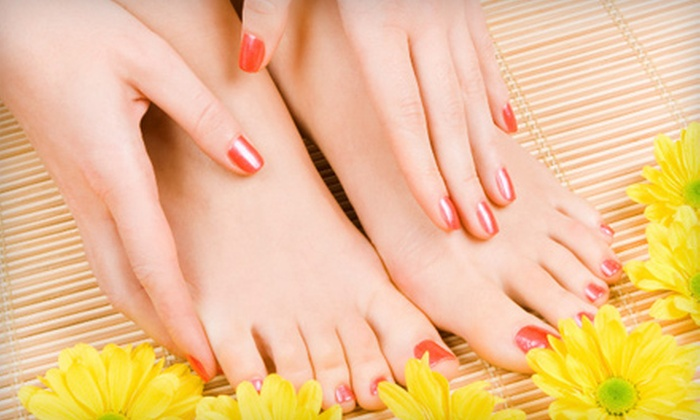 About Face & More - Downtown Portland: One or Two Luxury Mani-Pedis at About Face & More (Up to 53% Off)