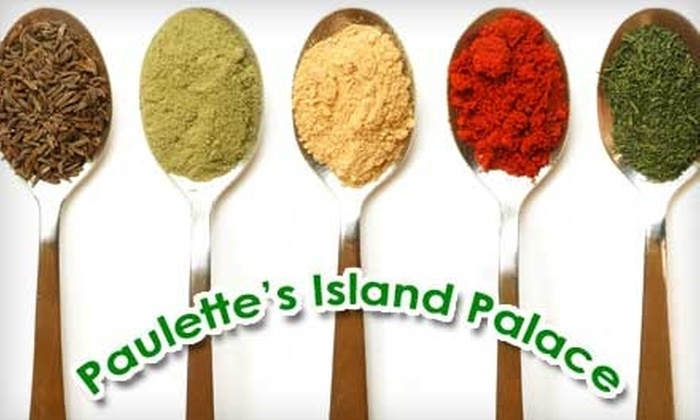 Paulette's Island Palace - University: $5 for $10 Worth of Jamaican and Caribbean Cuisine at Paulette's Island Palace