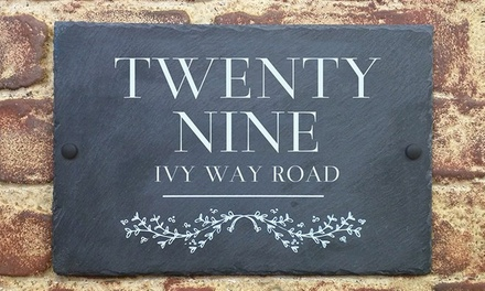 Choice of Personalised Slate House Sign from UK Sign Shop (Up to 55% Off)