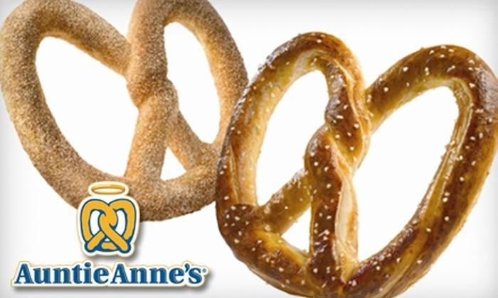Auntie Anne's - Multiple Locations: $2 for $5 Worth of Pretzels and More at Auntie Anne's