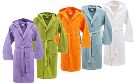 Accappatoio con cappuccio in cotone Bassetti disponibile in 4 taglie e vari colori
