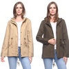 Women's 100% Cotton Hooded Utility Jacket