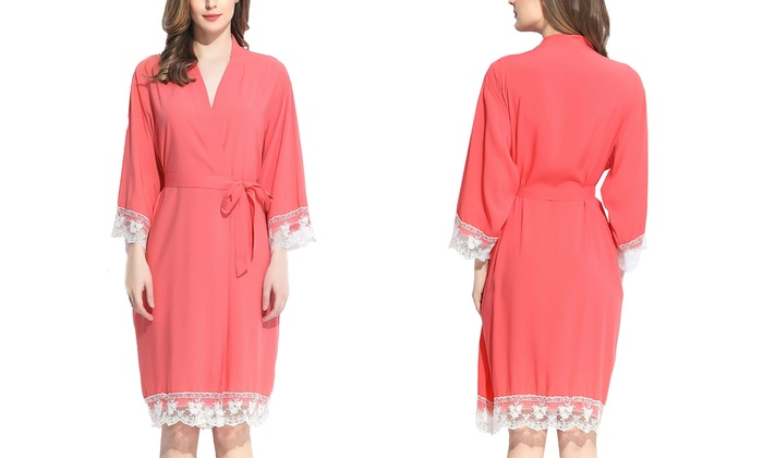 Pretty Bash Lucy Women s Embroidered Woven Robe. Plus Sizes Available. 5a0d95492