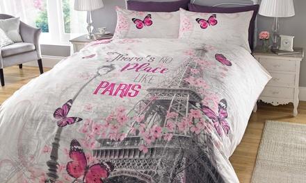 Juego de edredón con 1 o 2 fundas de almohada Paris