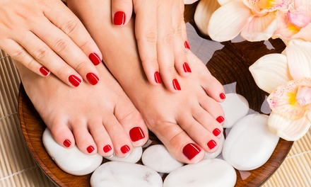 Mani-Pedi or Gel Manicure at ES Nail Bar & Organic Spa (Up to 50% Off)