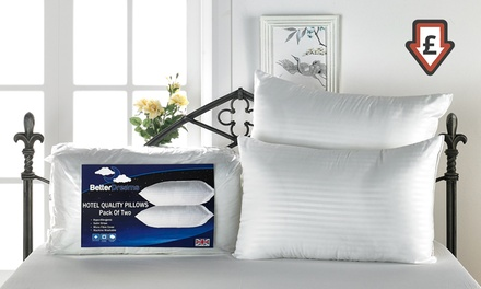 Four Hotel-Quality Extra Plump Satin Pillows