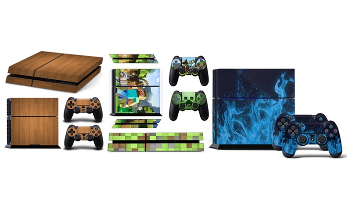 Groupon Goods Global GmbH: One or Three Play Station 4 Slim Skin Sets