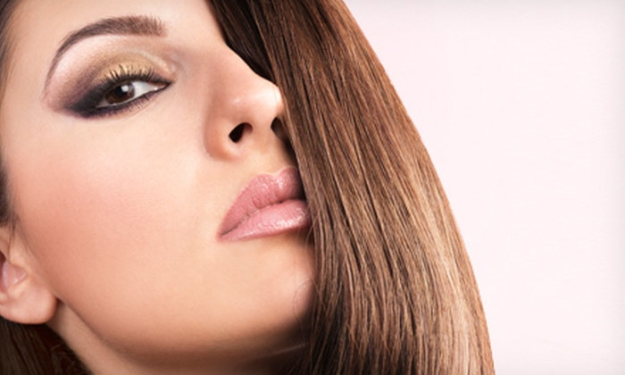 Salon Moselle - Old Town Temecula: Haircut Package with Optional Single-Process Color or Partial or Full Highlights at Salon Moselle (Up to 66% Off)