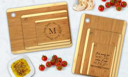 Groupon Up To 84 Off Custom Cutting Board Set From Monogram Online
