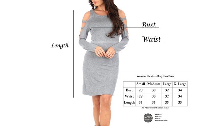 6a8c405704390 ... Women's Open Sleeve Body-Con Dress with Free Fleece-Lined Leggings ...