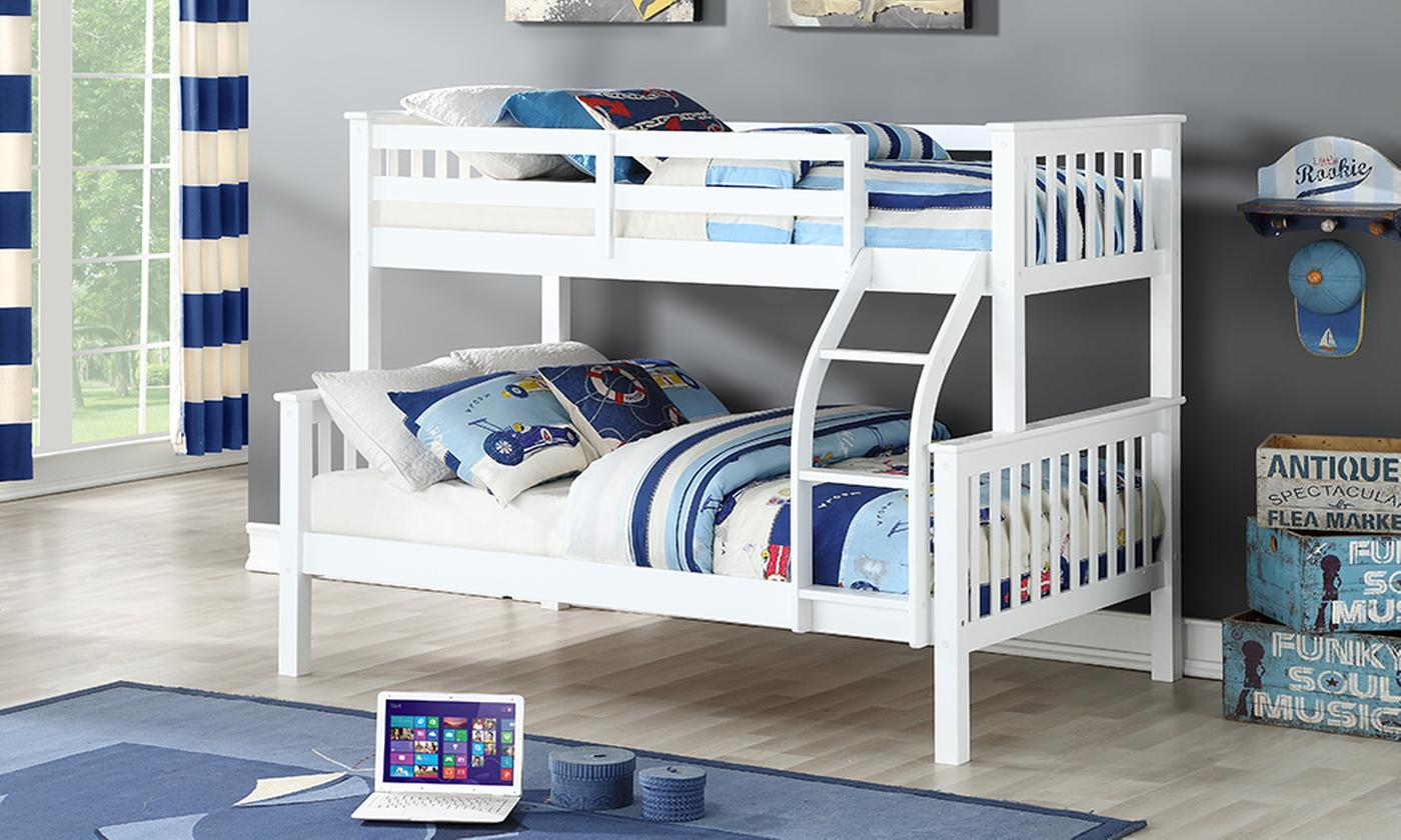 Harmony Triple Sleeper Solid Wood Bunk Bed with Optional Ortho Mattresses (£399)