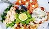 Cattolica: Menu di pesce e vino