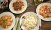 Menu pasta all you can eat