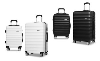Two-Pc Hard-Shell ABS Luggage Set
