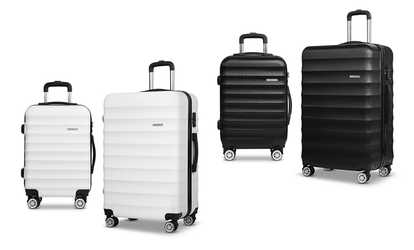 Shop Groupon Two-Pc Hard-Shell ABS Luggage Set 8d81383f19