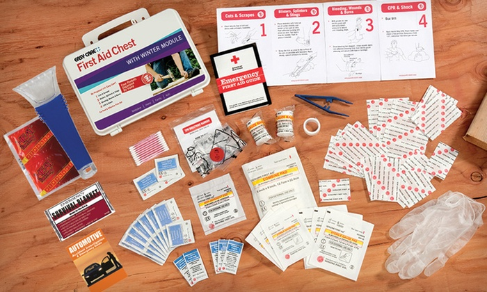 First-Aid Chest With Winter Module: $17 for a Winter-Survival First-Aid Kit ($36 List Price). Free Shipping and Free Returns.