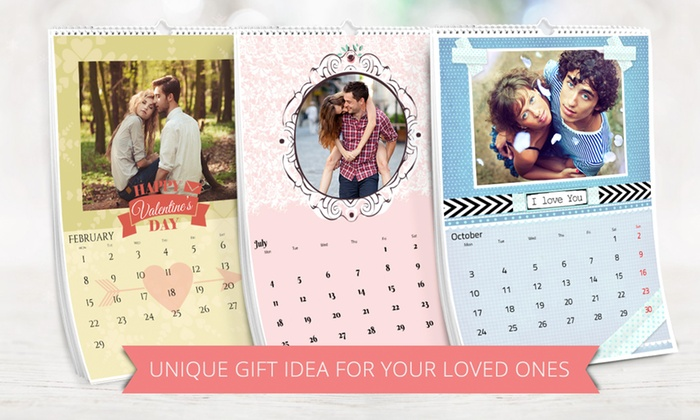 ecolorland personalised a3 calendar groupon goods