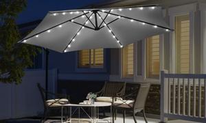 Parasol déporté avec bandes LED