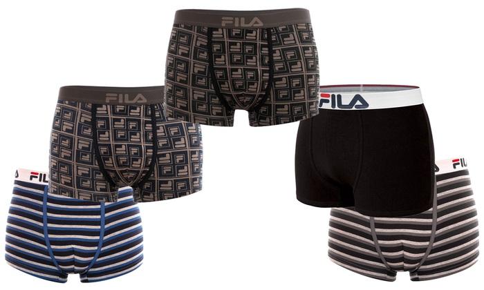 jusqu'à 57% Pack 5 Boxers Fila Mix   Groupon