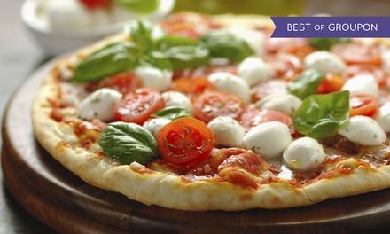 Menú básico o premium para 2, 4 o 6 personas con pizza de 1,20 m a elegir desde 19 € en Estancia La Española